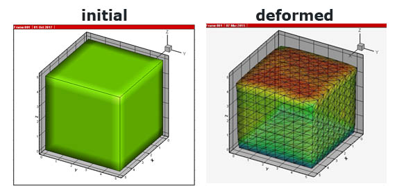 3D Large deformations finite element MATLAB code | matlab-fem com